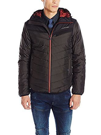 G-Star Mens Attacc Hooded Quilted Overshirt Jacket, Raven, Large