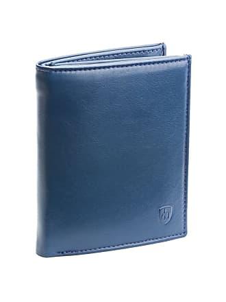 a2cfedb0b135 dv Grand portefeuille pour homme en cuir Nappa avec fermeture éclair  intérieure porte-monnaie et