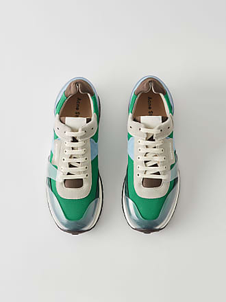 Acne Studios Jimmy Label Green Vintage running sneakers