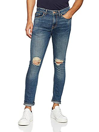 9c5065ce8679e New Look Vintage Rip Jean Skinny Bleu (Mid Blue 40) Large44 (Taille  Fabricant