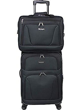 World Traveler Embarque Lightweight 2-Piece Carry-on Spinner Luggage Set-Black