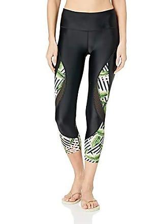 Body Glove Womens Move Hybrid Surf Capri Swimsuit with UPF 50+, Samoa Black, Medium