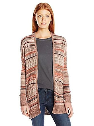 Billabong Juniors Stripes Over You Sweater Cardigan, Latte, M