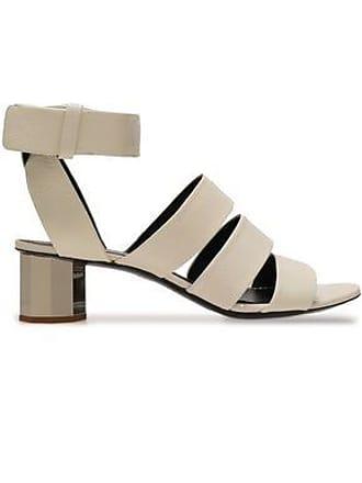 Proenza Schouler Proenza Schouler Woman Cutout Leather Sandals Light Gray Size 37