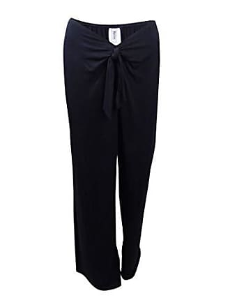 Kenneth Cole Reaction Womens Frenchie Solid Tie Front Pant Cover Up, Black, Medium
