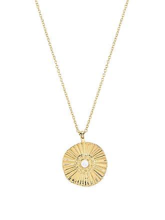 Gorjana Sunburst Coin Necklace in Metallic Gold