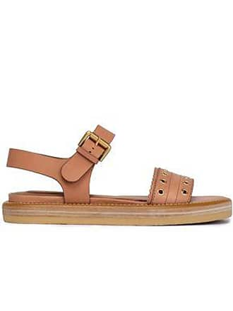 See By Chloé See By Chloé Woman Eyelet-embellished Leather Sandals Tan Size 36