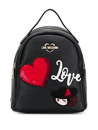 Love Moschino backpack with patches - Preto
