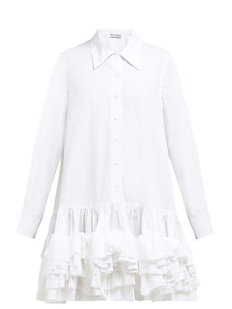 59215948d48a7 MOLLY GODDARD Annie Ruffled Hem Cotton Dress - Womens - White