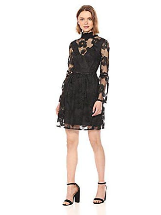 fb9ac62c09 Monique Lhuillier Womens Cocktail Dress with Rouched Neck and Bell Sleeves