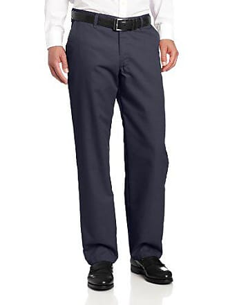 Lee Lee Mens Total Freedom Relaxed Fit Flat Front Pant - 30W x 32L - Navy