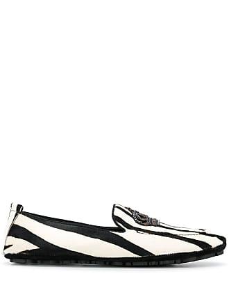 Dolce & Gabbana Crown striped loafers - Preto