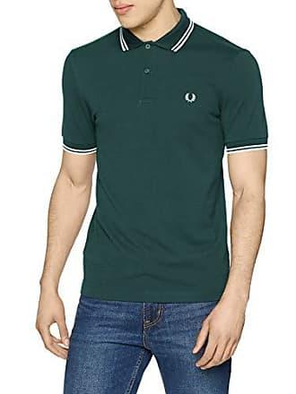 dca5edd0609ac Fred Perry Twin Tipped Shirt Polo, Vert (Dark Pine Snow White A17),