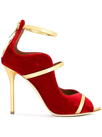 Malone Souliers Sapato de veludo e couro - Vermelho