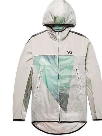Yohji Yamamoto Canvas-trimmed Printed Nylon-ripstop Hooded Jacket - Ecru
