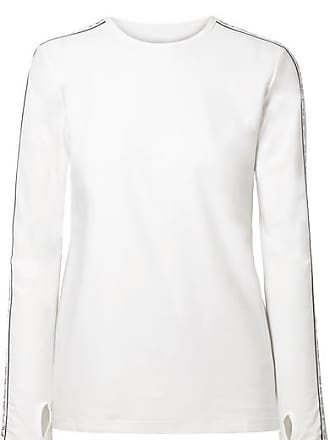 Tory Sport Banner Striped Stretch-jersey Top - White