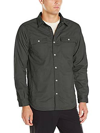 Columbia Mens Log Vista Shirt Jacket, Gravel/Fossil Convo Print, Large