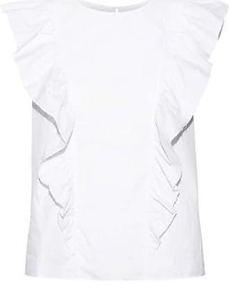 Current Elliott Current/elliott Woman Ruffled Cotton-poplin Top White Size 3