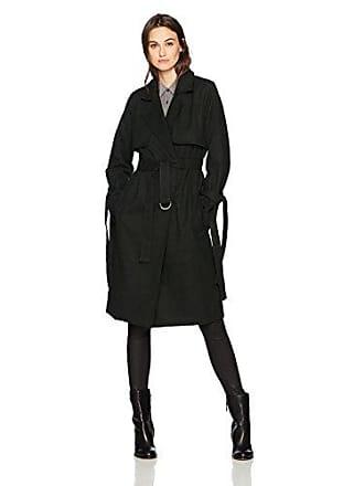 J.O.A. JOA Womens Tie Sleeve Trench Coat, Forest, Medium