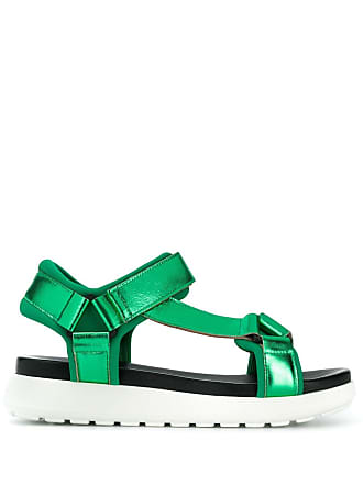 P.A.R.O.S.H. laminated platform sandals - Green