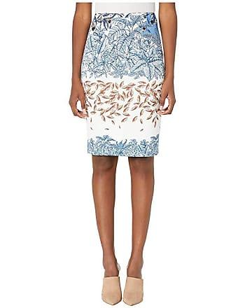 Yigal AzrouËl Printed Scuba Skirt (Ivory Multi) Womens Skirt