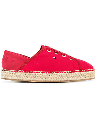 bb1905ad94b59 Tommy Hilfiger logo lace-up espadrilles - Red