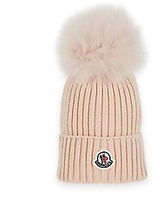 Moncler Kids Fur-Trimmed Wool Beanie - Pink Size 4 6 YRS 72a8191c5cae