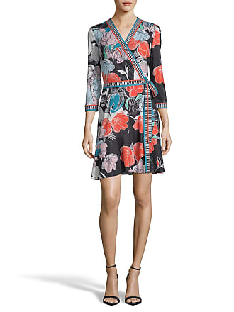 5twelve Printed Tie-Front Asymmetric Wrap Dress