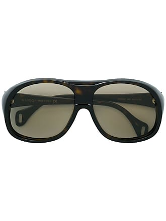5519fe2a723 Gucci oversized aviator-sized glasses - Brown