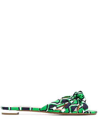 Aquazzura Sandália estampada - Verde