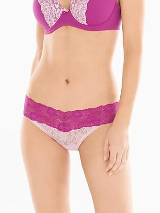 Soma Embraceable Allover Lace Thong, Pearl Pink, Size XS