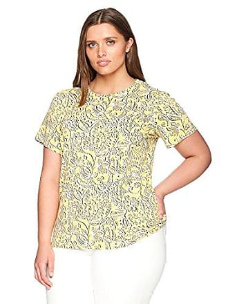 c5edead6d517a1 Rafaella Womens Plus Size Printed Embellished Knit Tee