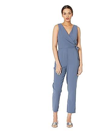 5c90d3d82a24 1.State Wrap Front Tie Waist Soft Twill Jumpsuit (Antique Blue) Womens  Jumpsuit
