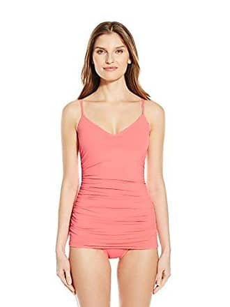 58eeb4c5cb Vince Camuto Womens Draped Swim Dress One Piece Swimsuit, Coral Sugar, 10