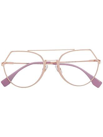 Fendi Armação de óculos - Dourado
