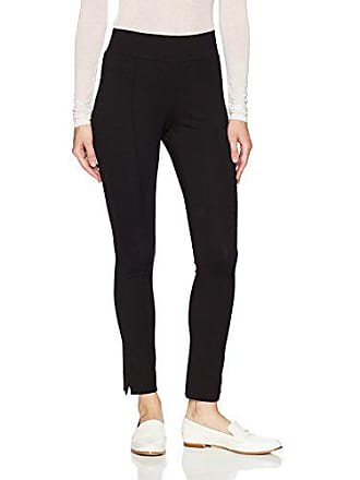 Adrianna Papell Womens Pull On Ponte Pants, Black 6