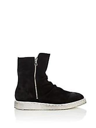 Barneys New York Mens Double-Zip Suede Boots - Black Size 13 M
