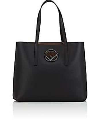3ed9b0bb99e Fendi Womens Logo Shopper Leather Tote Bag - Black