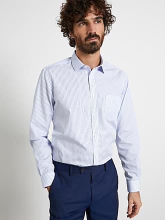 Cyrillus Herren Hemd, gerade, gestreift, bügelfrei in rosaweiß