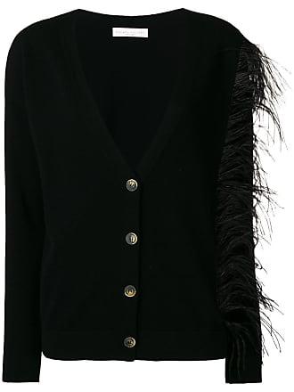 Fabiana Filippi ostrich feather cardigan - Black