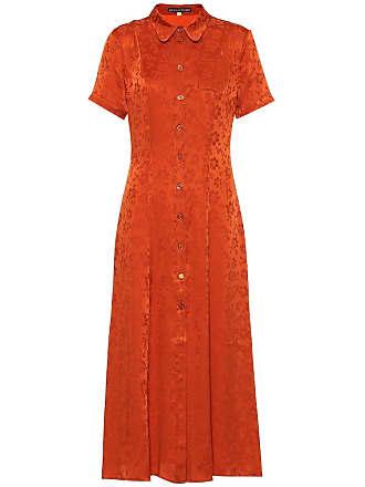 AlexaChung Floral silk-blend shirt dress