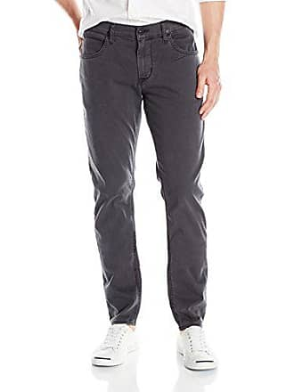 39c160311ce Hudson Mens Blake Slim Straight Leg + Double Cuff Lightweight Twill Pant,  Dusted Charcoal,
