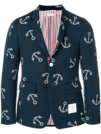 Thom Browne Classic Anchor Sport Coat - Blue