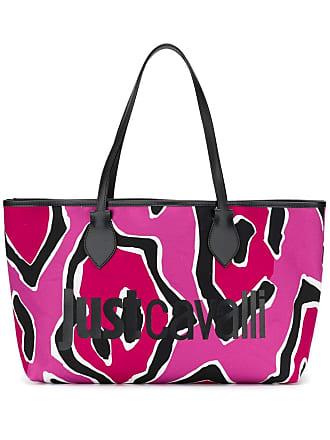 Just Cavalli Bolsa tote com logo - Rosa