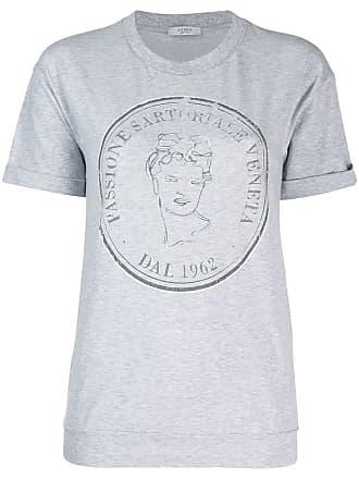 PESERICO Camiseta com estampa de logo - Cinza