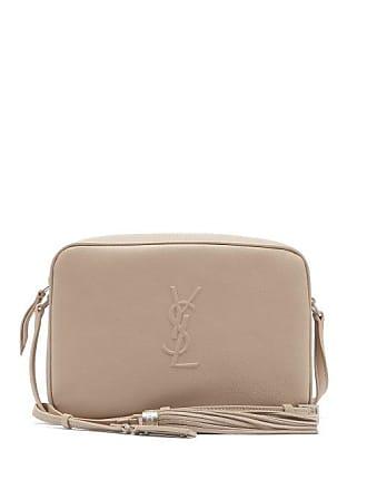 71ca9aa43a70 Saint Laurent Lou Monogram Leather Cross Body Bag - Womens - Beige