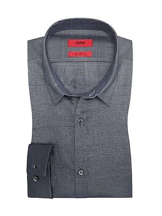 5bf060fc3e3e38 HUGO BOSS Oberhemd in modischem Farbverlauf in Anthrazit für Herren