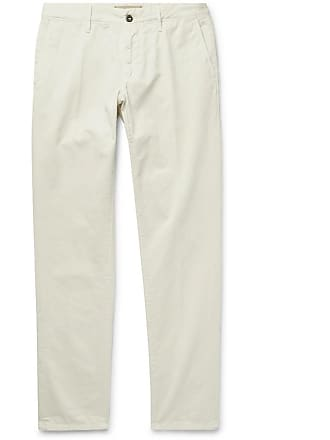 Incotex Slim-fit Cotton-twill Chinos - Off-white
