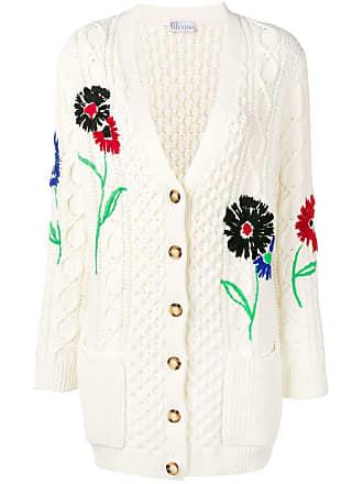 Red Valentino Cardigã com bordado floral - Branco