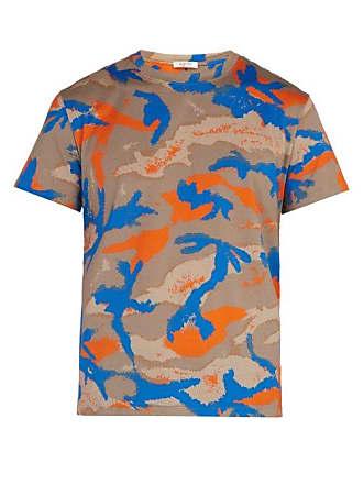 e3cfa3a4b Valentino Camouflage Print Cotton T Shirt - Mens - Orange Multi